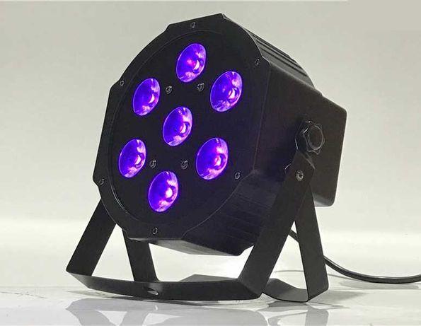 7x18 RGBWA+UV Led par Ультрафиолетовый Светодиодный Цветомузыка Лед