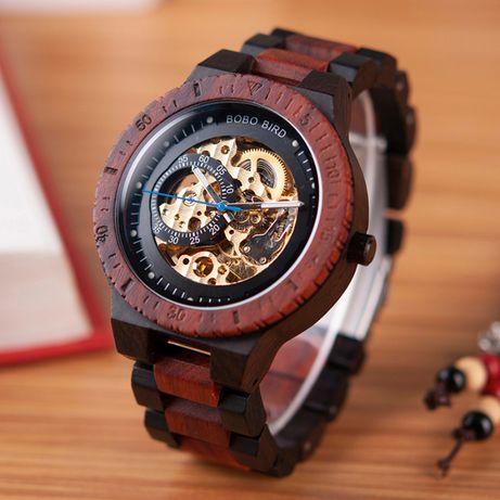Dla Ojca Automatyczny zegarek drewniany BOBO BIRD R05
