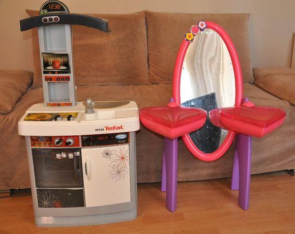 toaletka lustro kuchnia kuchenka tefal zabawki dla dzieci