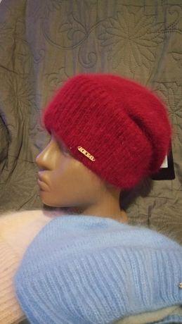 Ангора женская шапка