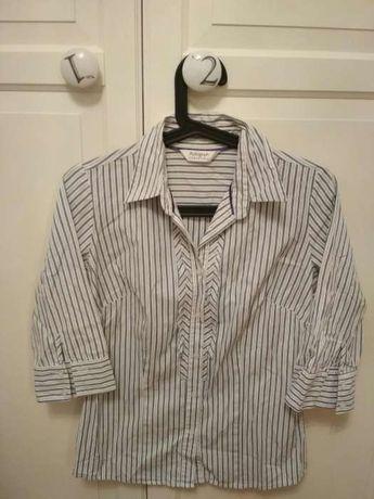 Autograph bluzka w paski z żabotem rozmiar M 38 elegancka koszula