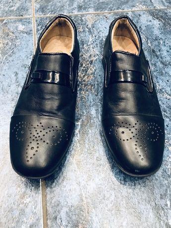 Кожаные туфли на мальчика 34 размер 22см (стелька)