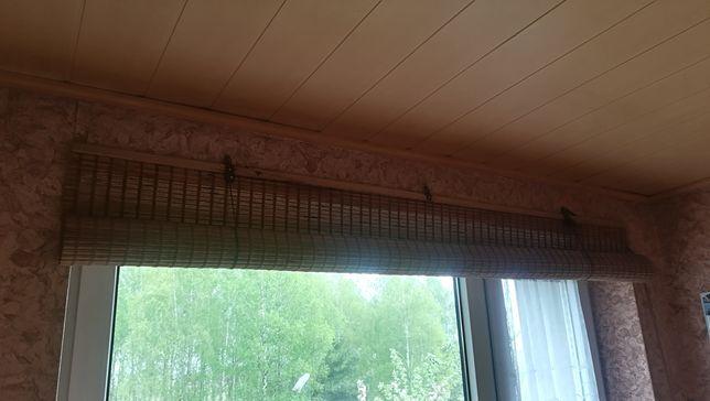Roleta markiza drewniana na okno zasłona babmus