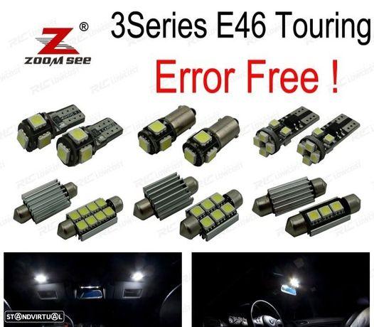 KIT COMPLETO DE 18 LÂMPADAS LED INTERIOR PARA BMW SERIE 3 E46 WAGON TOURING 316I 318I 320I 323I 325