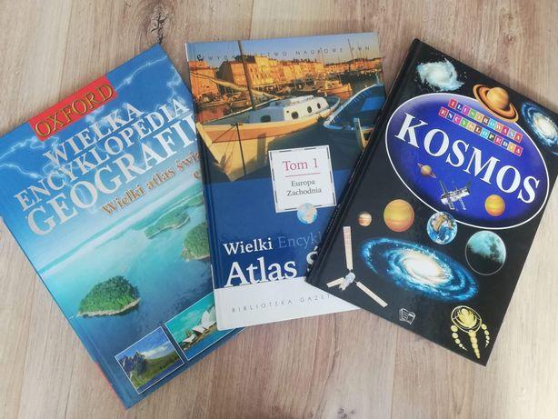 """Zestaw książek """" Encyklopedia geografii """" i inne"""