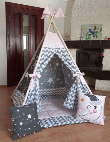 Палатка вигвам, детский игровой домик.Оплата при получении!Полный осм