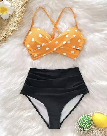 Cupshe _ strój kąpielowy 40 L bikini wysoki stan majtek Pin up girl RE