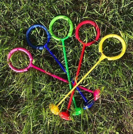 Нейроскакалка Скакалка на одну ногу с подсветкой все цвета