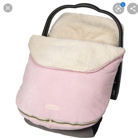 Śpiworek jj cole do fotelika samochodowego otulacz różowy