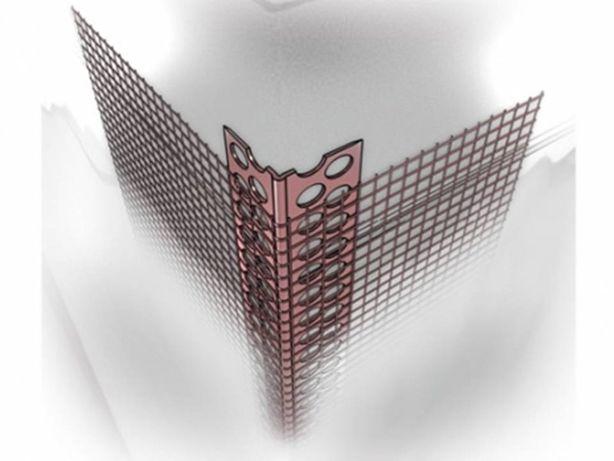 Narożnik aluminiowy z siatką 2,5m Narożniki Listwy Winkle Profile