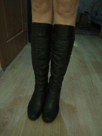Кожаные, зимние сапоги, 41 размер