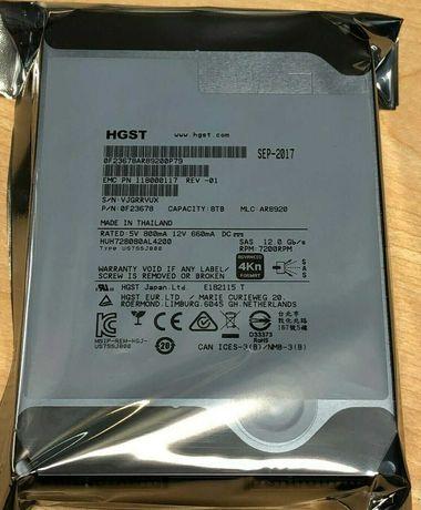 """HDD диск  HGST 8TB 3.5"""" SAS 7,200 RPM 12Gb/s  , CHIA"""