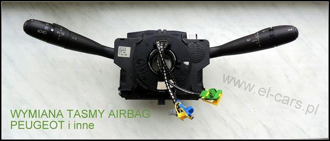 wymiana taśma airbag zwijacz Peugeot 407 406