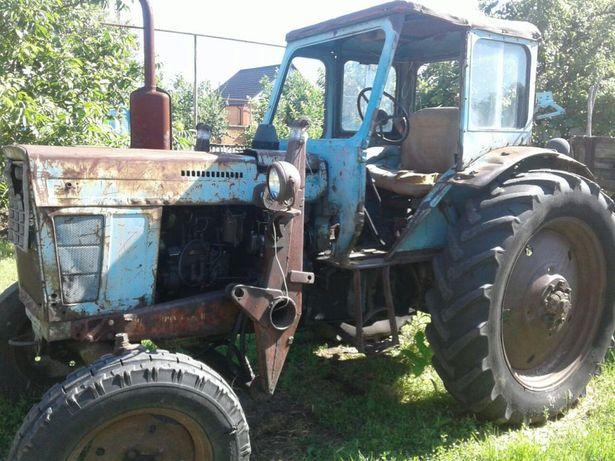 Трактор Беларус МТЗ 50 с прицепом и погрузчиком