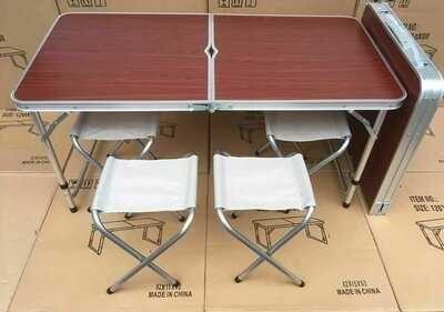 Стол со стульями чемодан раскладной для природы дачи пикника