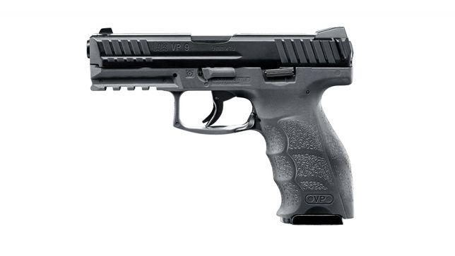 Pistolet wiatrówka H&K Heckler&Koch VP9 blowback szary 4,5 mm BB CO2