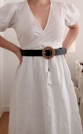 Vestido branco comprido