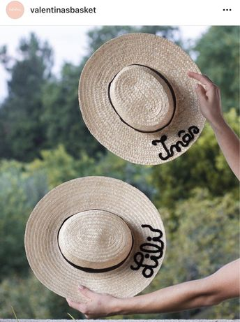 Chapeus de palha personalizados