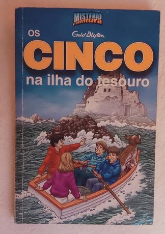 Livro - Os Cinco na Ilha do Tesouro - NOVO