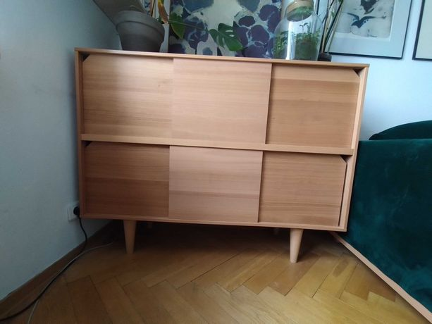 Komoda IKEA Stockholm drewno 135 cm