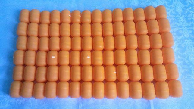 opakowania, jajeczka, kapsułki, niespodzianka, kinder, pomarańczowe