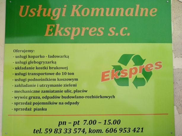 Usługi Koparką, Układanie Polbruków, Podnośnik Koszowy, Zamiatanie