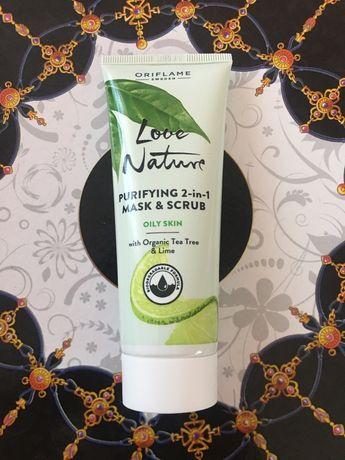 2w1 maska-peeling Love Nature