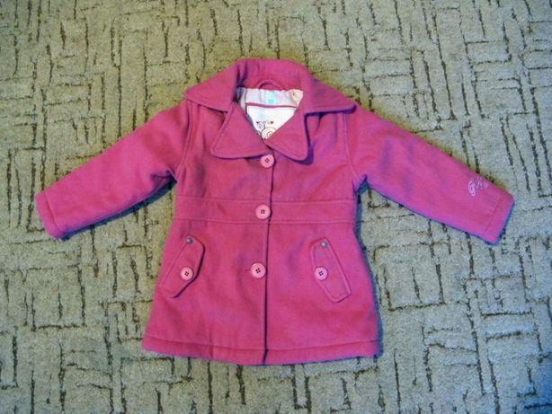 Теплое пальто на девочку 2-3 лет р.92