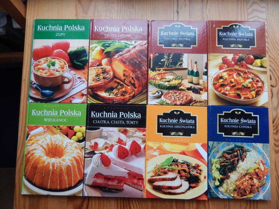 Książki kulinarne, kucharskie Kuchnia Polska Kuchnie Świata - 8 sztuk