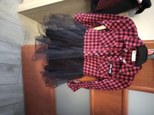 Sukienka śliczna MałaMi 110-116