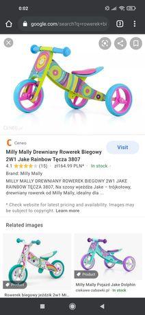 Rowerek biegowy Milly Mally drewniany