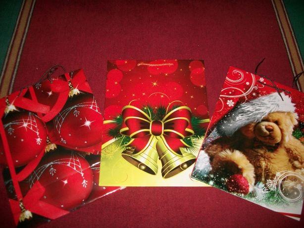 Пакеты подарочные новогодние 3 штуки