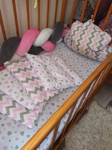 7в1 Постельное белье,бортики, косичка,карман и балдахин в кроватку