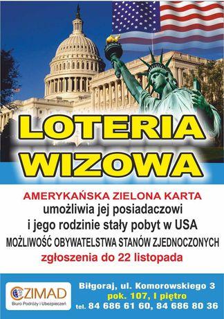 Loteria Wizowa do USA