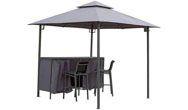 Pawilon Namiot Ogrodowy altana antracyt gazebo + wbudowany stół