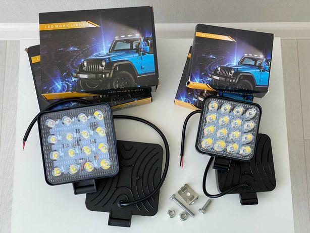 Светодиодные LED/ЛЕД фары/фонари трактор комбайн погрузчик прицеп 48W