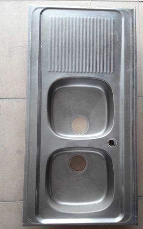 Lava-louça duplo Inox - 120cm x 60,5cm