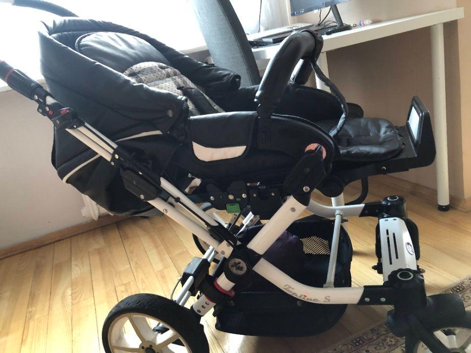 Wózek 3 w 1 HARTAN TopLine S, skóra eco + nosidełko MaxiCosi samoch