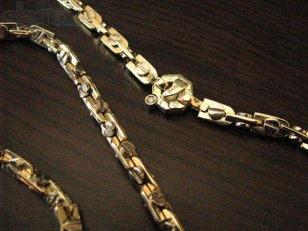Подарок бриллиант!!! Золотая мужская цепь Baraka.