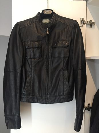 Кожаная куртка MANGO , размер М, натуральная кожа