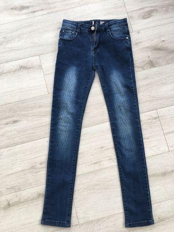 Jeansy regulowane dziewczęce r.158