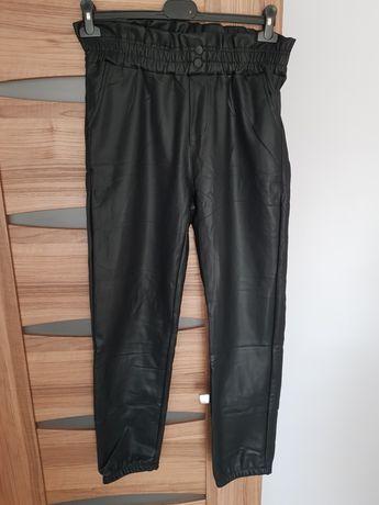 Spodnie damskie ekoskora woskowane