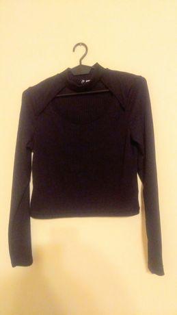 Czarna bluzka z chokerem H&M DIVIDED nowa
