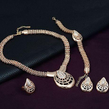 Duży komplet biżuterii Kolia,bransoletka,kolczyki ,pierścionek Tanio !