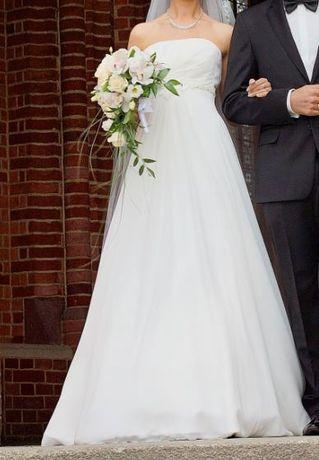 suknia ślubna rozm 34/36 z możliwością regulacji