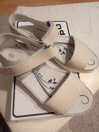 Nowe sandałki skórzane !