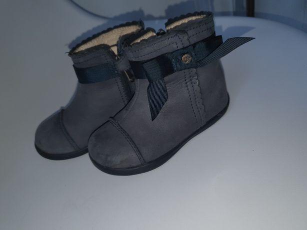 Botki buciki skórzane Mayoral 22 wkladka 13.5cm