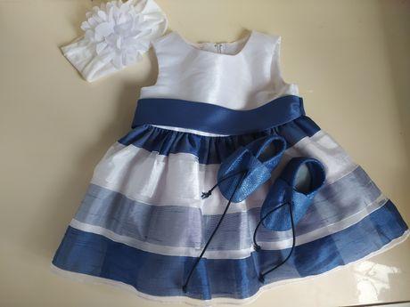 Детское платье от 0-3 на крещение или праздник