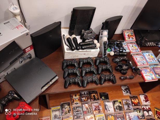 PS3 Zestaw PlayStation 3 , pad, okablowanie, gry do wyboru. Gwarancja!