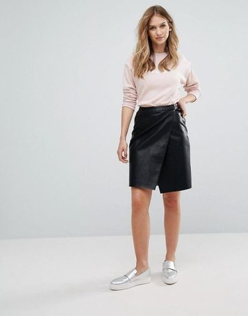 Кожаная юбка Vero Moda